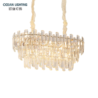 Led Living Room Luxury Crytal Modern Gold Stainless Steel Ceiling Lamp Chandelier