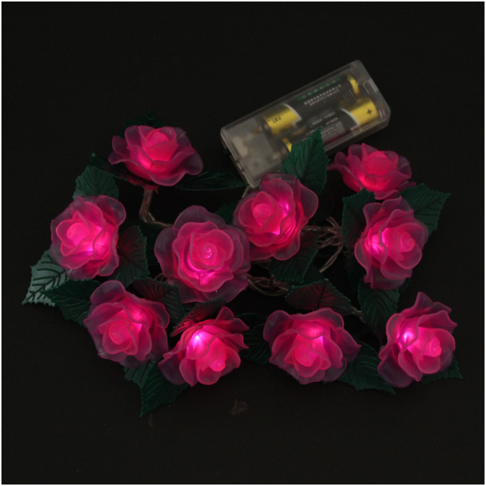 Led Rose String Lights : LED Lights LED Battery Light Rose String Light Christmas Holiday Decoration from China ...