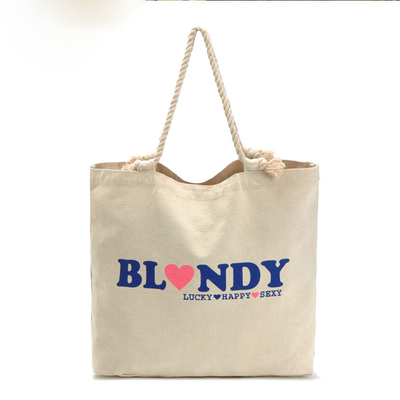 Lightweight Natural Cotton Gusset Tote Custom Printed Bags