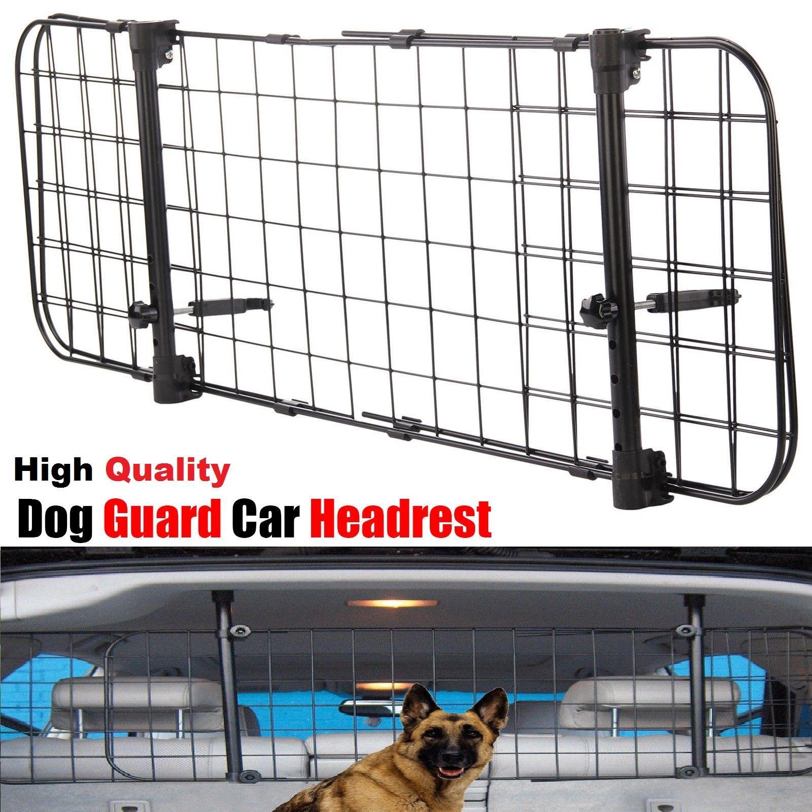 Universal Dog Guard Adjustable Safety Travel Dog Pet Headrest Car Mesh Barrier J