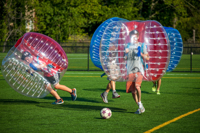 Bumper Zorb ball--let the football game more exciting