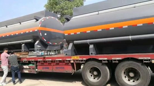 Tank Body Carbon Steel Inner Lined 16mm PE, 15000L-16500L for Hydrochloric Acid Truck Lorry