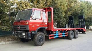 25t6X4 Construction Carring Excavators Flatbed Truck for Sale