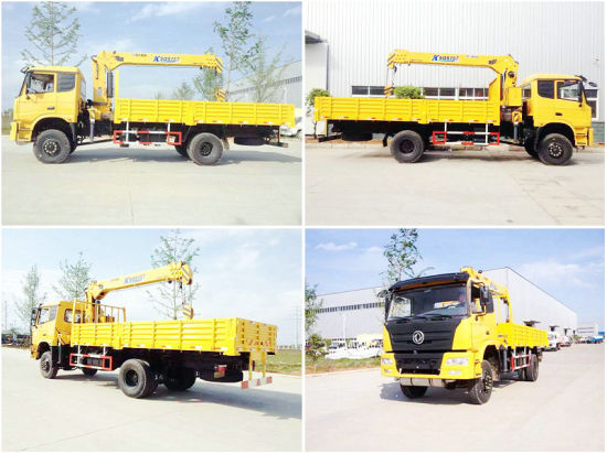 Euro 3 Dongfeng All Wheel Drive 4X4 Truck Mounted Crane 4X4 off-Road with 190HP Cummins Engine