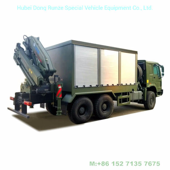 HOWO Mobile Workshop 6X6 off Road Service Trucks Customizing