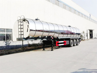 Miro Stainless Steel Claded Asphal Bitumen Tanker Trailer for Sale