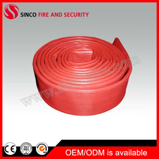 Red Rubber Covered Fire Hose