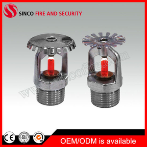 Standard Response Chrome Finished Fire Sprinkler System Used Fire Sprinkler