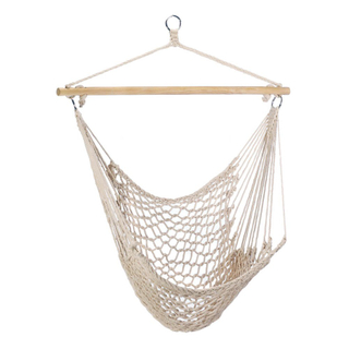 HOT SALES Hanging Rope Hammock Chair With Wooden Bar