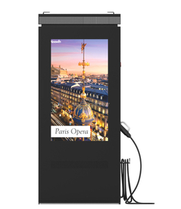 Stand-alone IP65 high brightness Charging outdoor LCD advertising display for gas station
