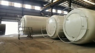 HCl Acid Storage Tank 10000 USG-30000USG Lined PE Suitable for Acid Storage Sulphuric Acid