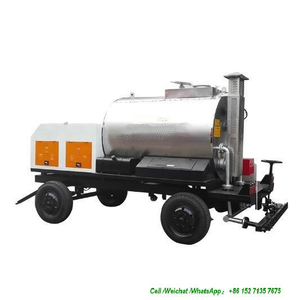Asphalt Distributor Trailer Truck with Bitumen Spraying Nozzles (Asphalt Tank Dolly Trailers Full Insulated 1000L -4000L, Spray Bitumen 2 -5 meters)