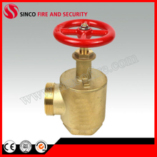 "Fire Hose Angle Valve with F1.5""NPT Inlet and 1.5""Nh Outlet"
