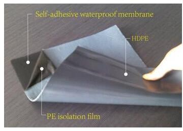 Self Adhesive Reactive Cement Waterproof Membrane for Basement