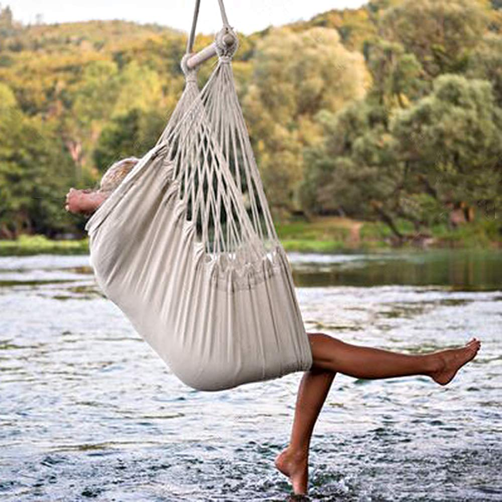 Cotton Rope Canvas Hanging Hammock Chair