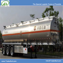 45500L Aluminum jet Tanker Semi Trailer 3 Axles for aircraft