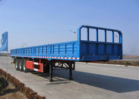 13m Drop Side Semi Trailer with 3 Axles And Side Wall for Bulk Cargos And Container,Platform Semi Trailer