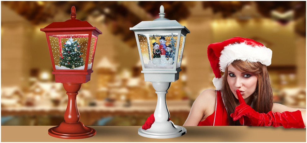 Especial Christmas Office Desk Ornaments with LED Lights