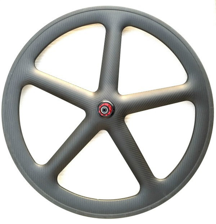 Free shipping 5 spoke road carbon wheels 24mm width rear wheels 11s
