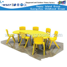 Kindergarten Children Curved Study Table Equipment (M11-07602)