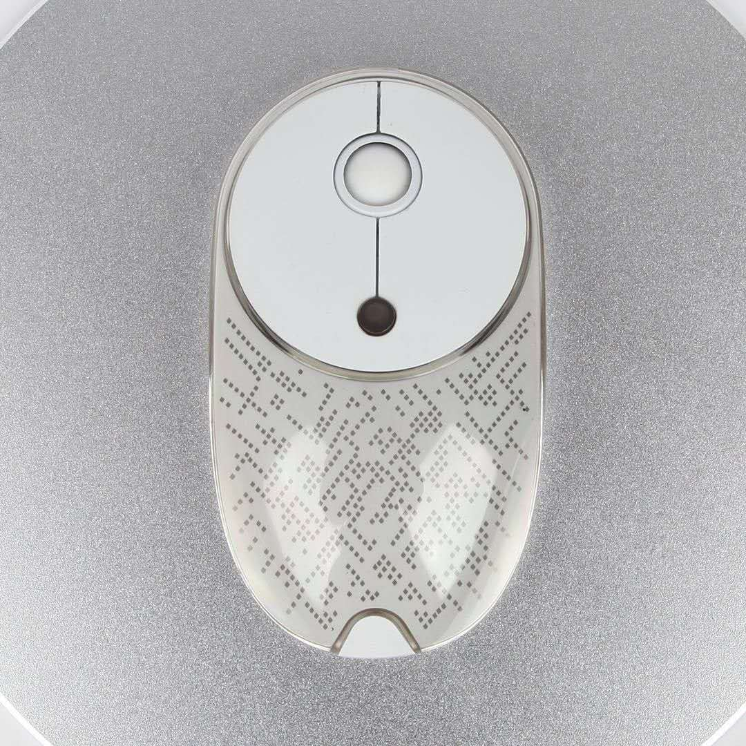 Chargeable Wireless Mouse with Backlight,Mute Key No Making Noise