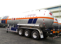 61000L Liquefied Petroleum Gas Lorry Tanker Semi Trailer with 3 Axles for LPG,LPG Tanker Semi Trailer