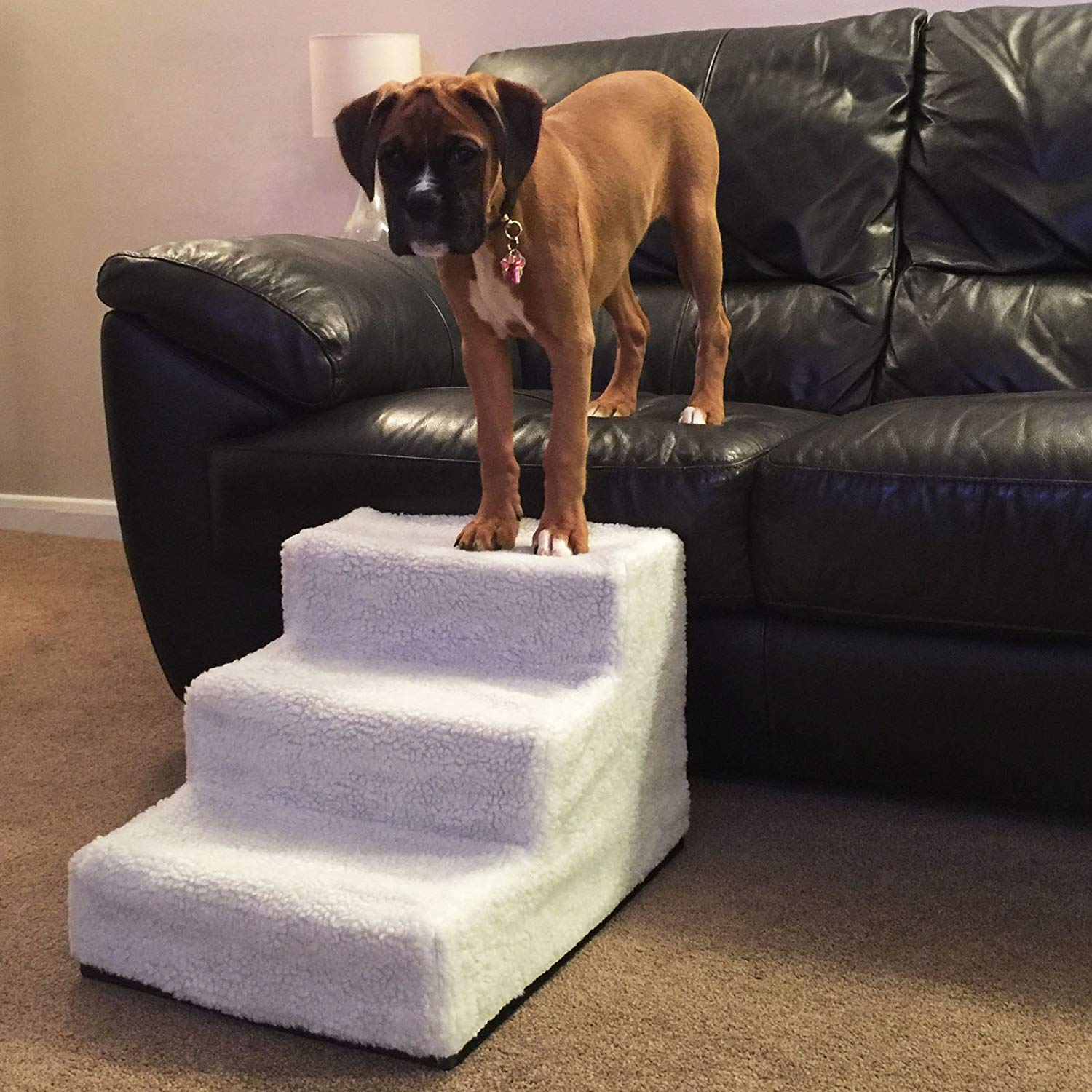 Three step pet stair Pet Climbing Ladder foldable dog stairs for dog and cat climbing