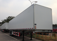 40ft Insulated Box semi trailer with 2 axles for food and fruits , insulated semi trailer