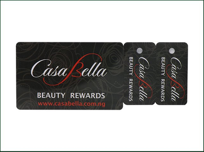 Custom Full Color Printed 3-parts PVC Luggage Custom Card