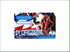 Plastic PVC Printed Gift Scratch Calling Card