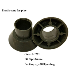PVC Plastic cone for inner diameter 22mm and outer diameter 26mm pipe