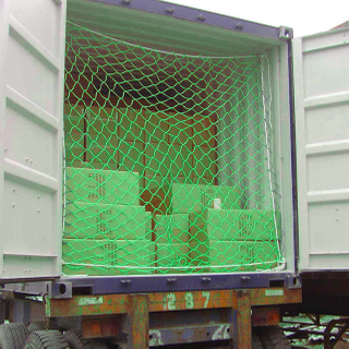 PP with UV 220gsm green color cargo net, container net,packing net
