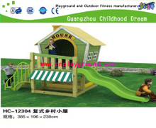 Outdoor Kids Role Play Mini Wooden House Playground Equipment