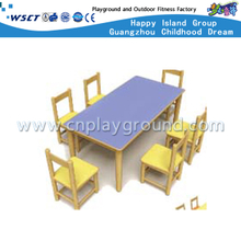 School Wooden Furniture Table and Chair Set for Six (M11-07206)