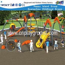 Commercial Children Metal Playground Equipment with Plastic Slide (HF-17902)
