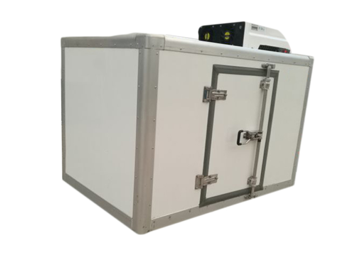 Tri-wheel Motor Tricycle Refrigerated Box with All - Closed FRP / GRP Insulated Sandwich Panel Kits And Refrigerator Units