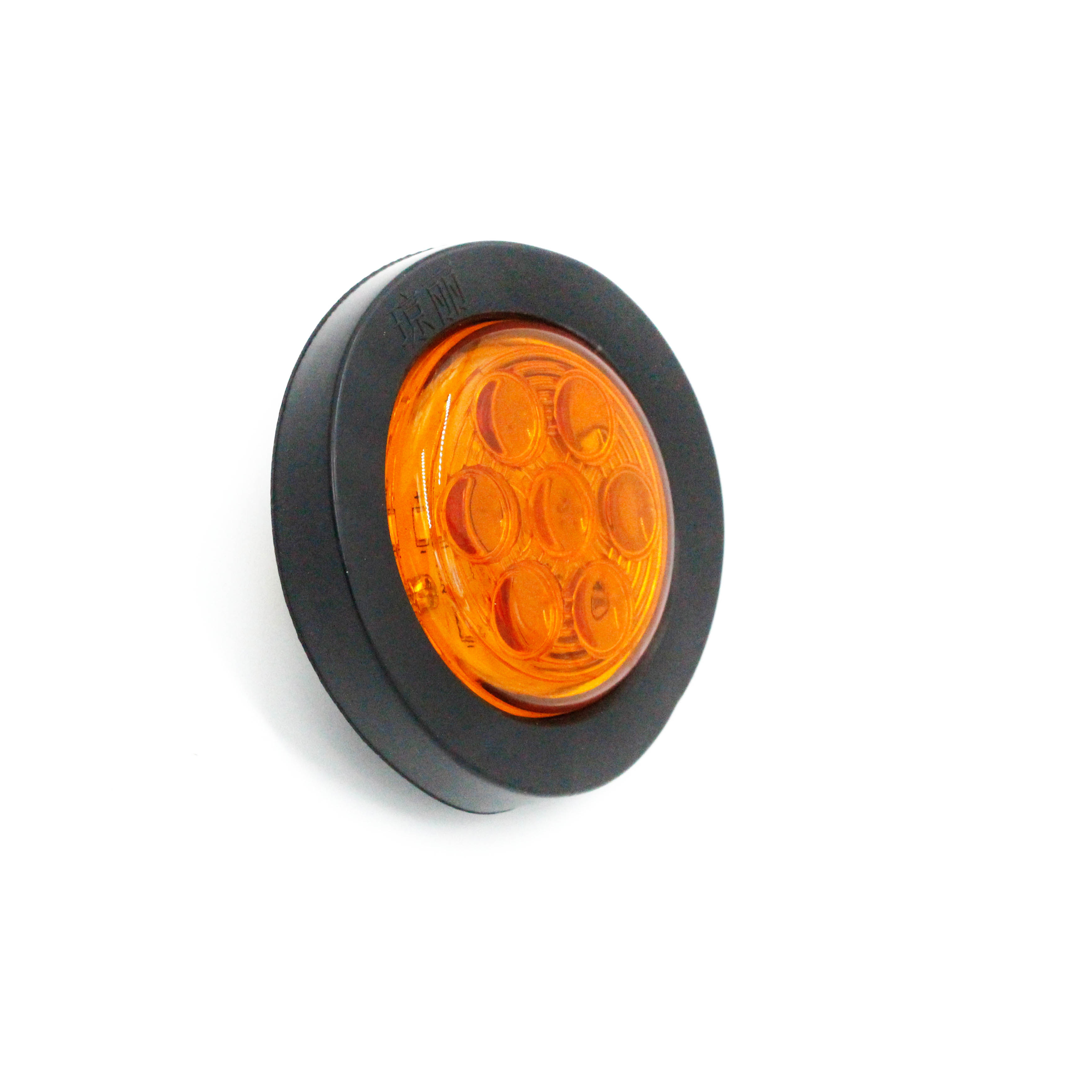 12v 24v 2 5 Inch Round Led Marker Lights With Rubber