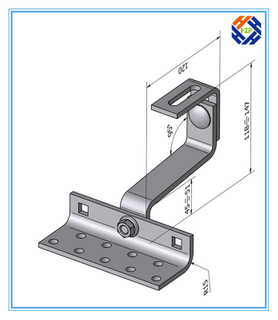 Solar Panel Mounting Bracket or Base, Roof Hooks
