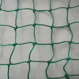 PP with UV 240gsm green color knot cargo net, container net,packing net