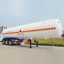 55000L LNG Tanker Semi Trailer with 3 Axles for Liquid Natural Gas,LNG Tanker Semi Trailer