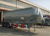 37000L Dry Bulk Pneumatic Aluminum Alloy Tanker Semi Trailers with 3 Axles for Bulk Cement Powder, Cement Tanker Semi Trailer