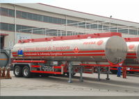 30400L Aluminum Tanker Truck Trailer with 2 Bpw Axles For GASLINE And Jet