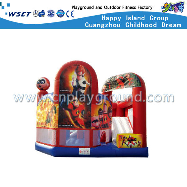 HD-9804 Amusement Park Superman Design Inflatable Castle