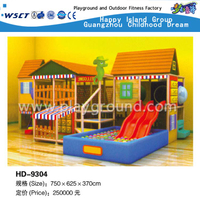 Niños Indoor Play Naughty Castle With Slide Playground (HD-9001)