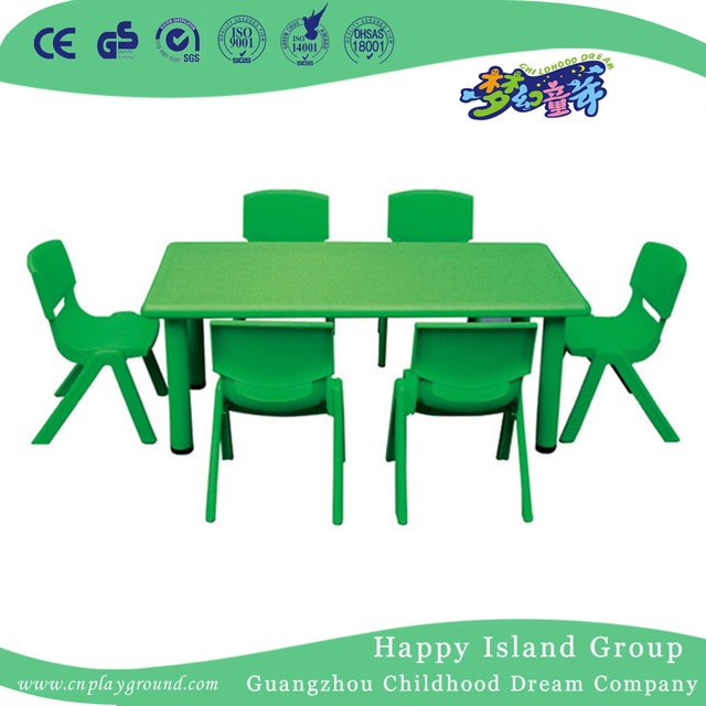 School Green Economy Plastic Rectangle Table HG 5101 from China