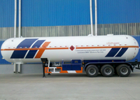 LPG Tanker Semi Trailer,58000L Liquefied Petroleum Gas Lorry Tanker Semi Trailer with 3 axles for LPG