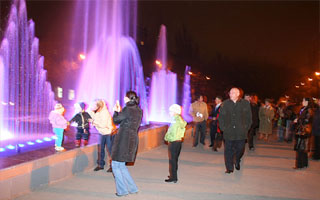 Ukrain Alchevsk city Program control fountain