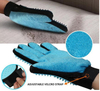 Pet Left and Right Hand 2 in 1 Pair Silicone Dog Grooming Gloves Remove the brush Clean Pet Fur Hairs
