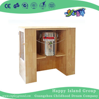 Kindergarten Children Natural Wood Teacup Cabinet (HG-6707)