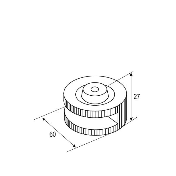 SS-1105 8mm,10mm Glass Clip-1